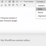 Change Font Family and Font Size with WP Edit